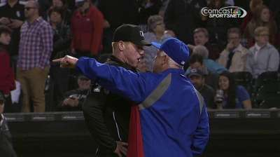 Renteria doesn't like getting tossed, moves on quickly