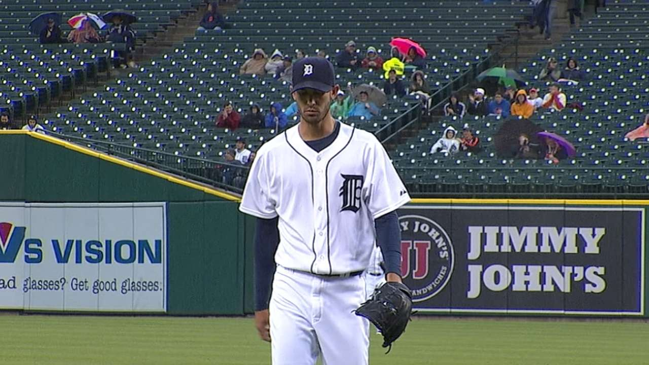 Porcello pitches Tigers to eighth straight win