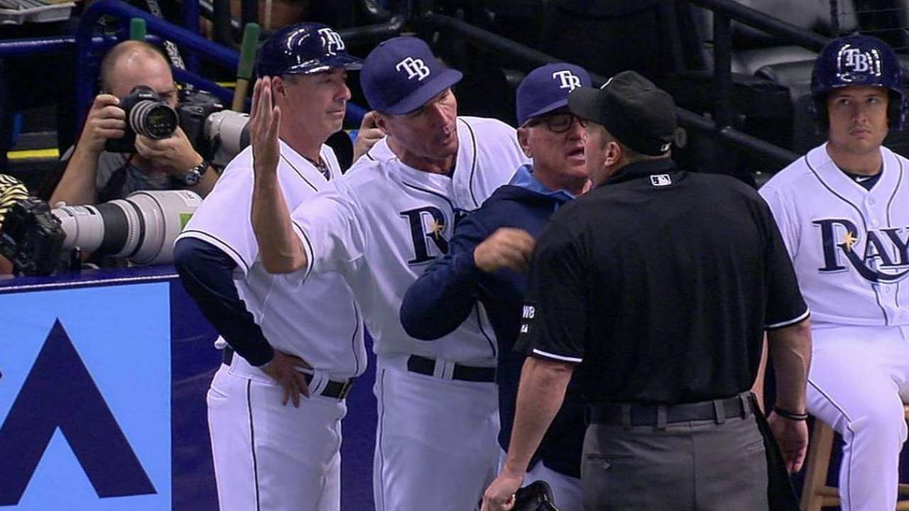 Hickey ejected after arguing in first inning