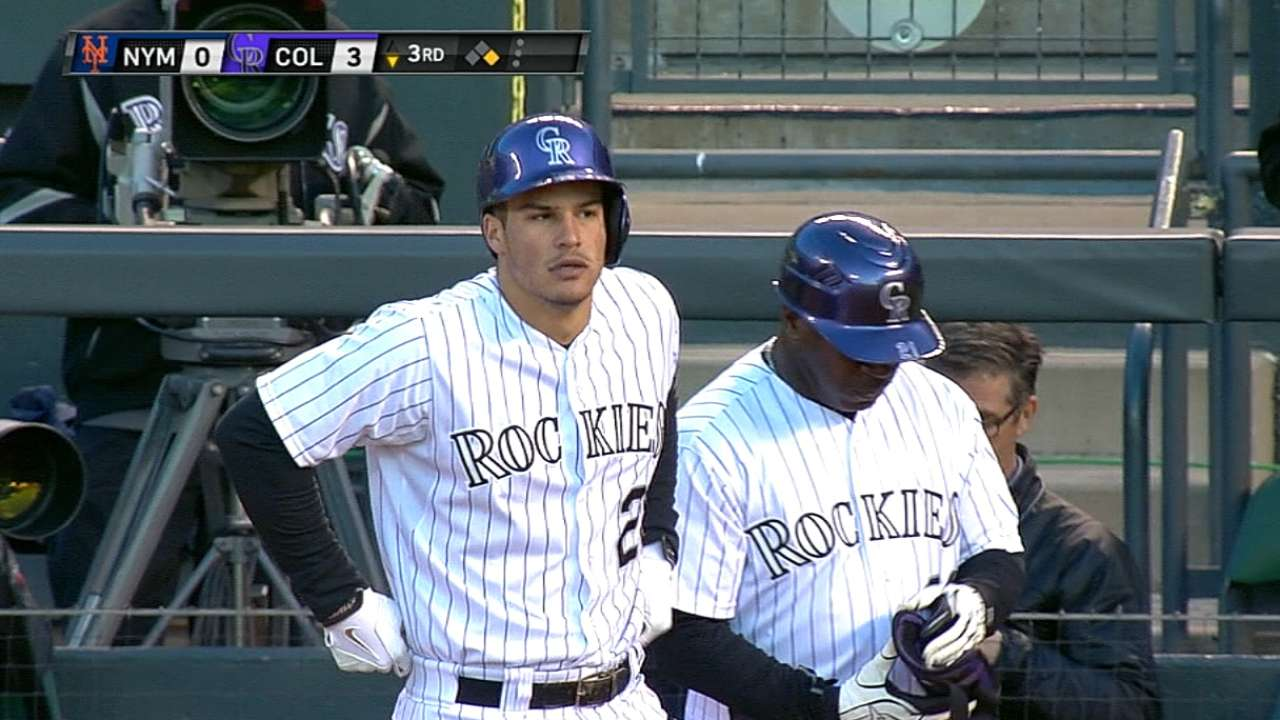 Red-hot Arenado hits fifth behind CarGo, Tulo