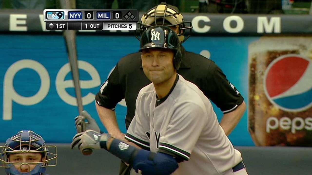 Back in Milwaukee, Jeter recalls first big hit
