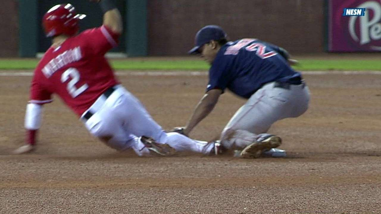 Bogaerts OK to play after getting spiked