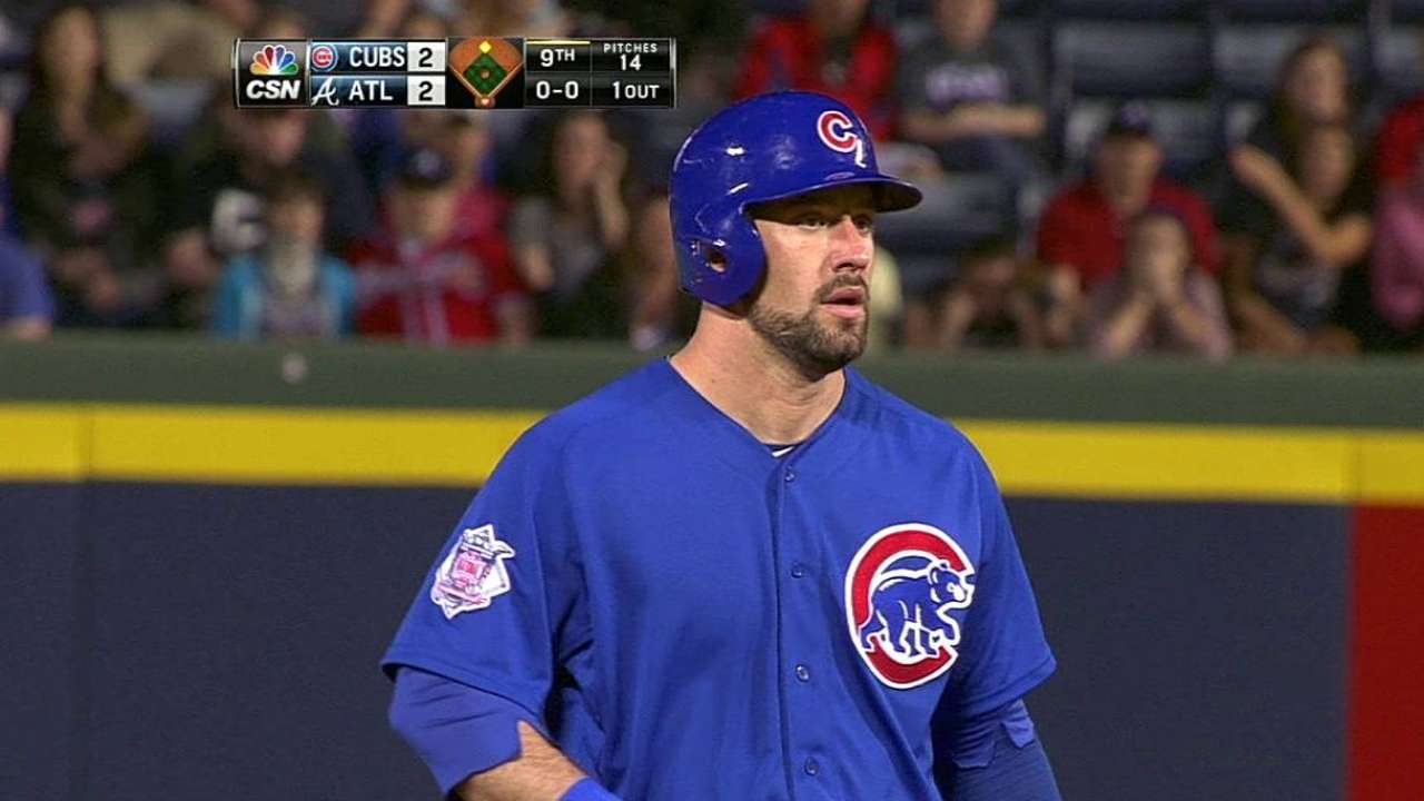 Cubs activate Ruggiano, option Kalish to Triple-A