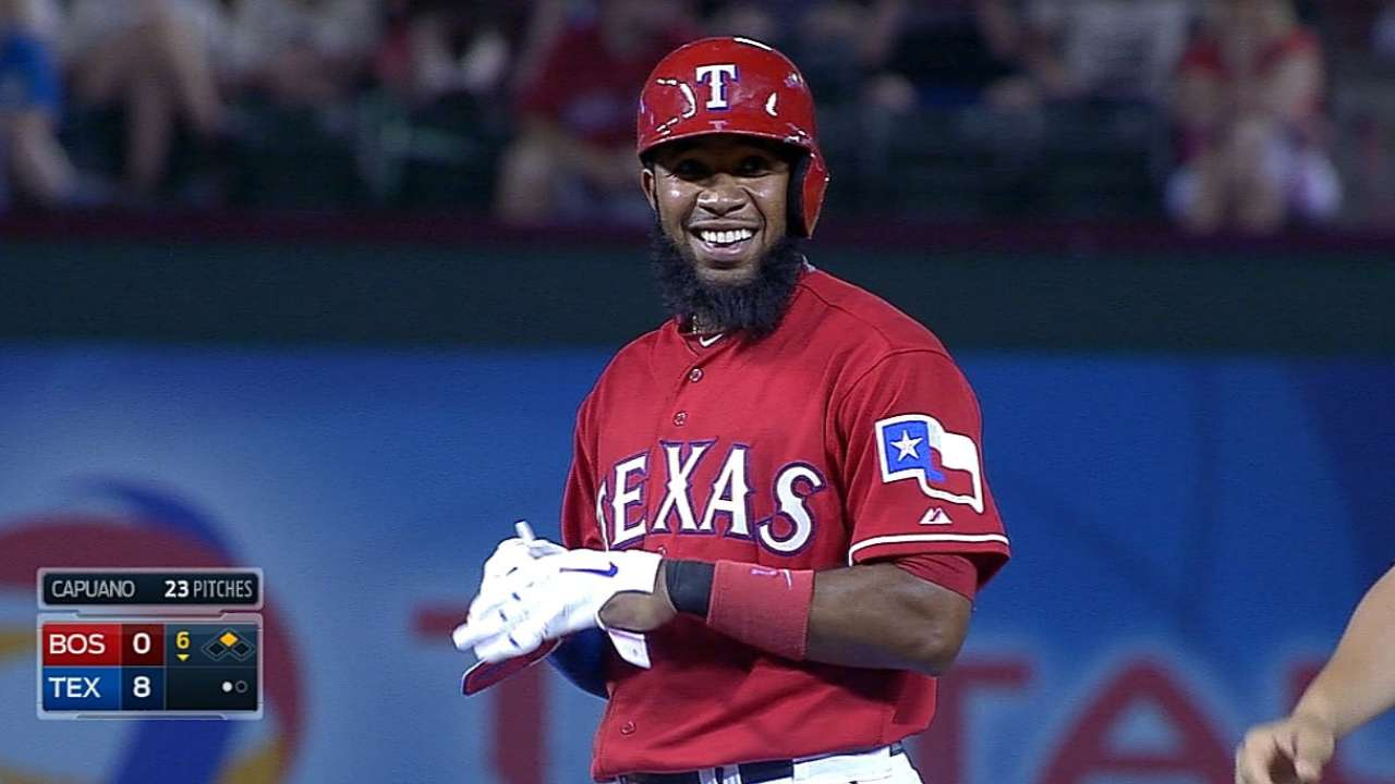 Andrus back at No. 2 spot against Red Sox