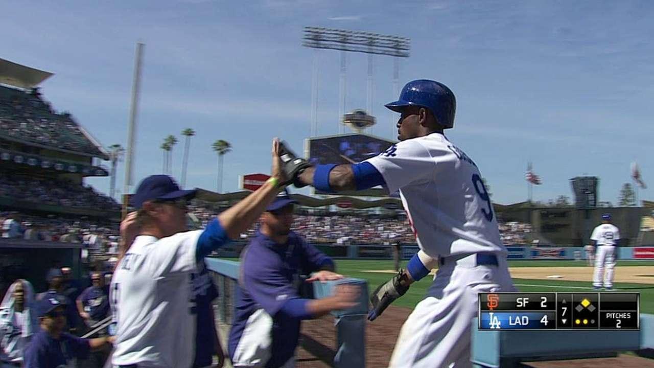 Dodgers reaccionaron tarde para doblegar a Gigantes