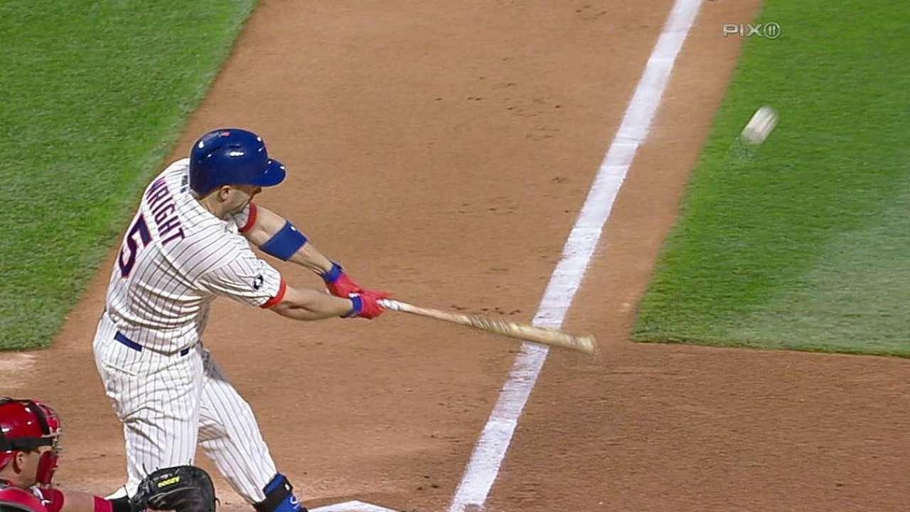 Wright brilla con el bate pero Mets caen ante Filis
