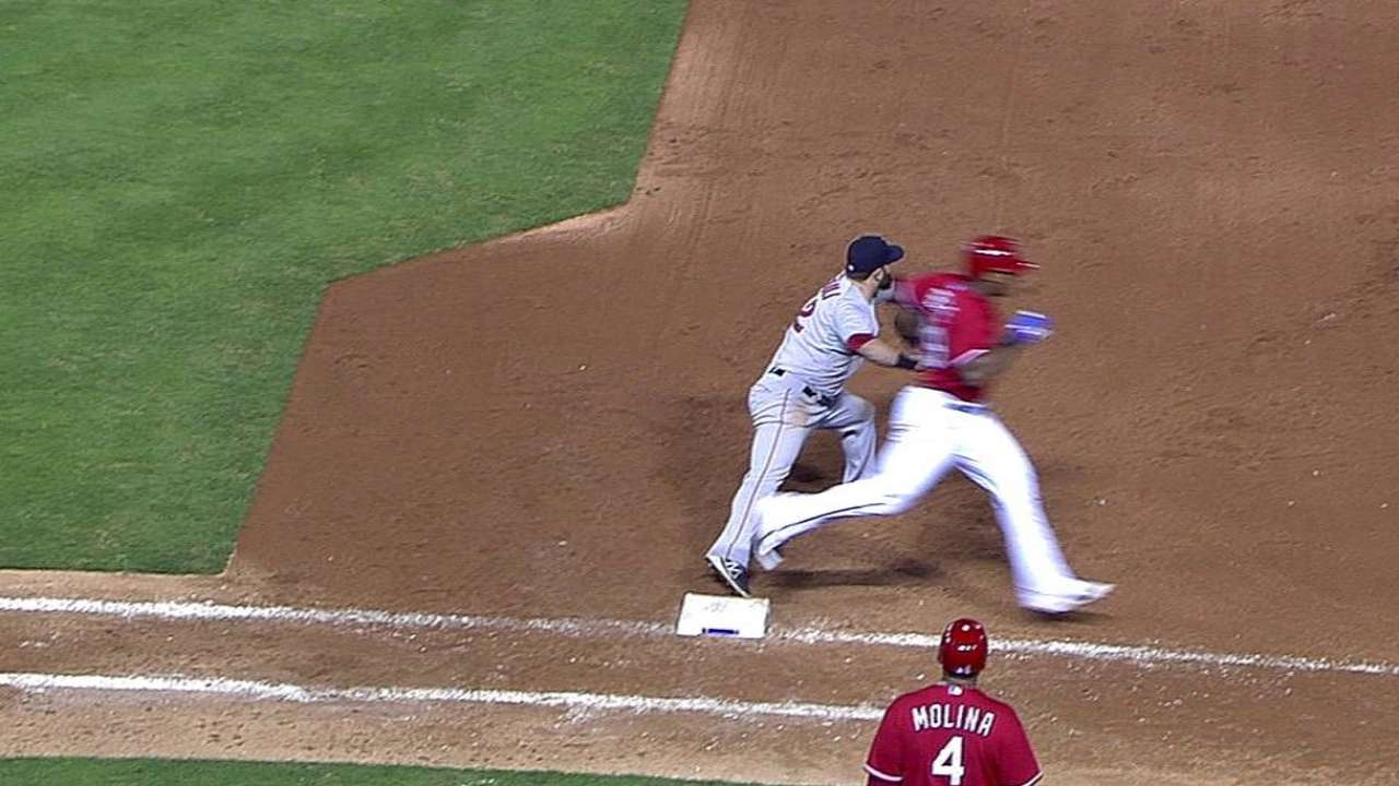 Texas' challenge on double play unsuccessful