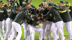 Jaso walks off A's after late rally vs. Soriano, Nats