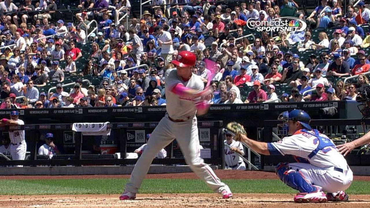 Phillies go pink in honor of Mother's Day