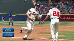 Braves support Harang's effort in sweep of Cubs