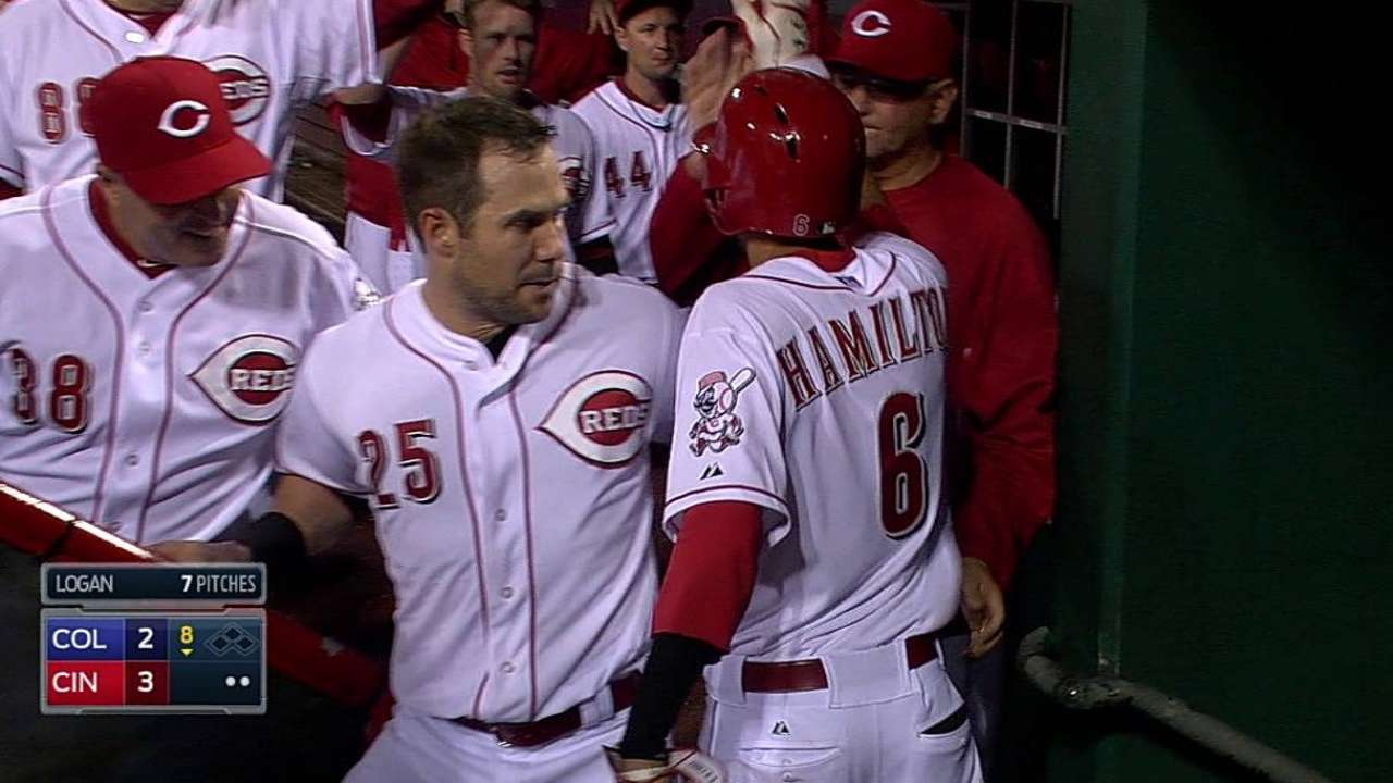 Reds rest Hamilton vs. Rox for 'one extra day'