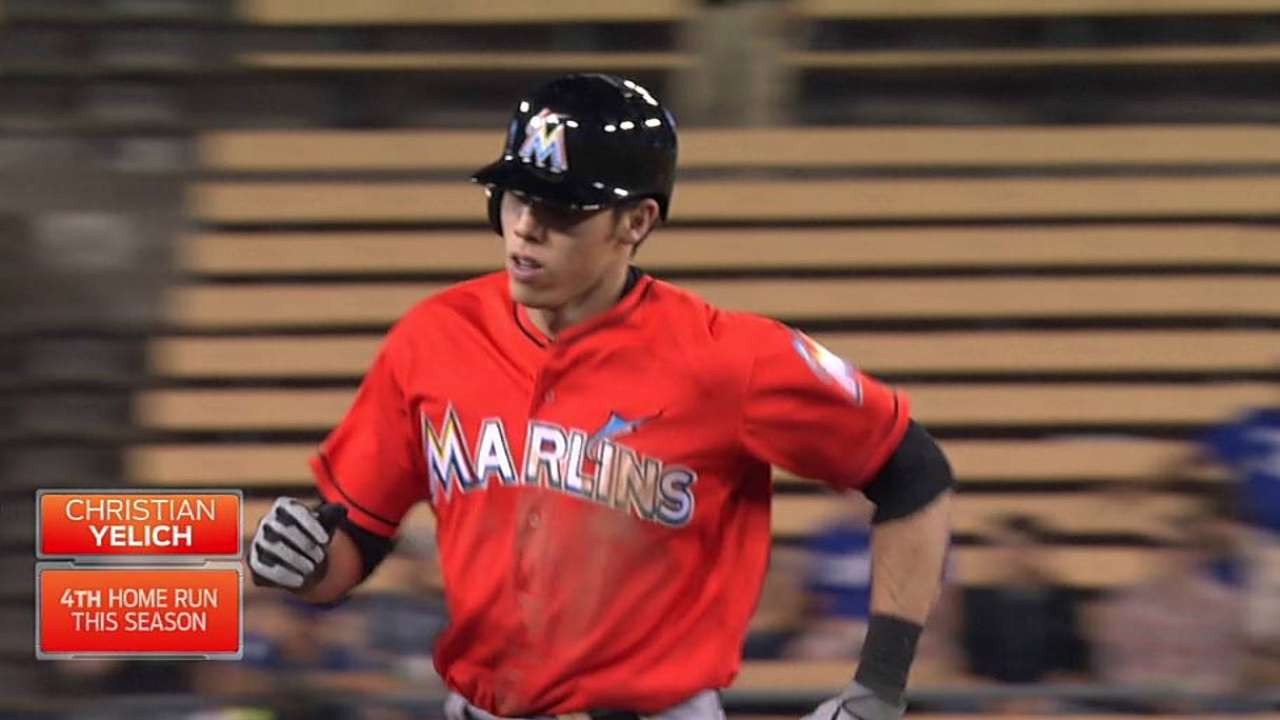 Yelich: Homer at Dodger Stadium 'surreal' moment