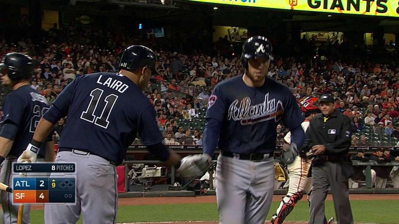Braves' offense can't pick up Floyd vs. Giants