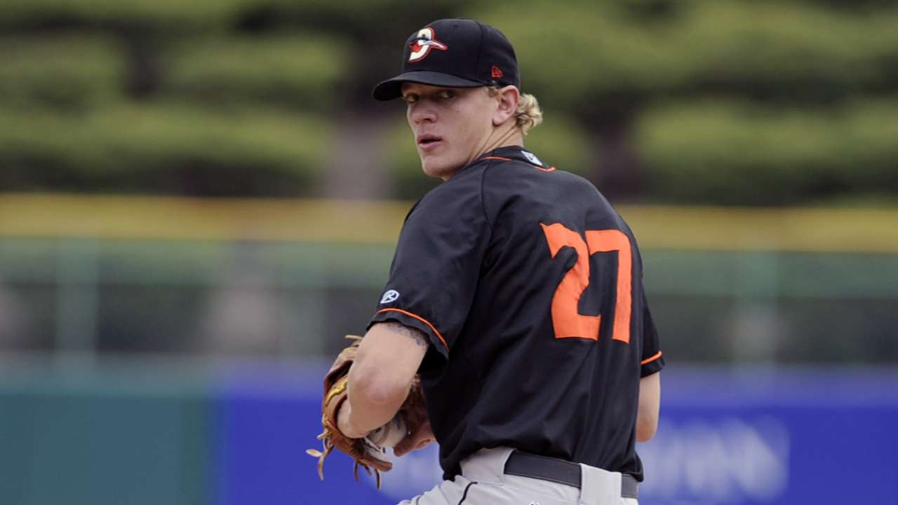 O's prospect Bridwell loses perfect game in seventh