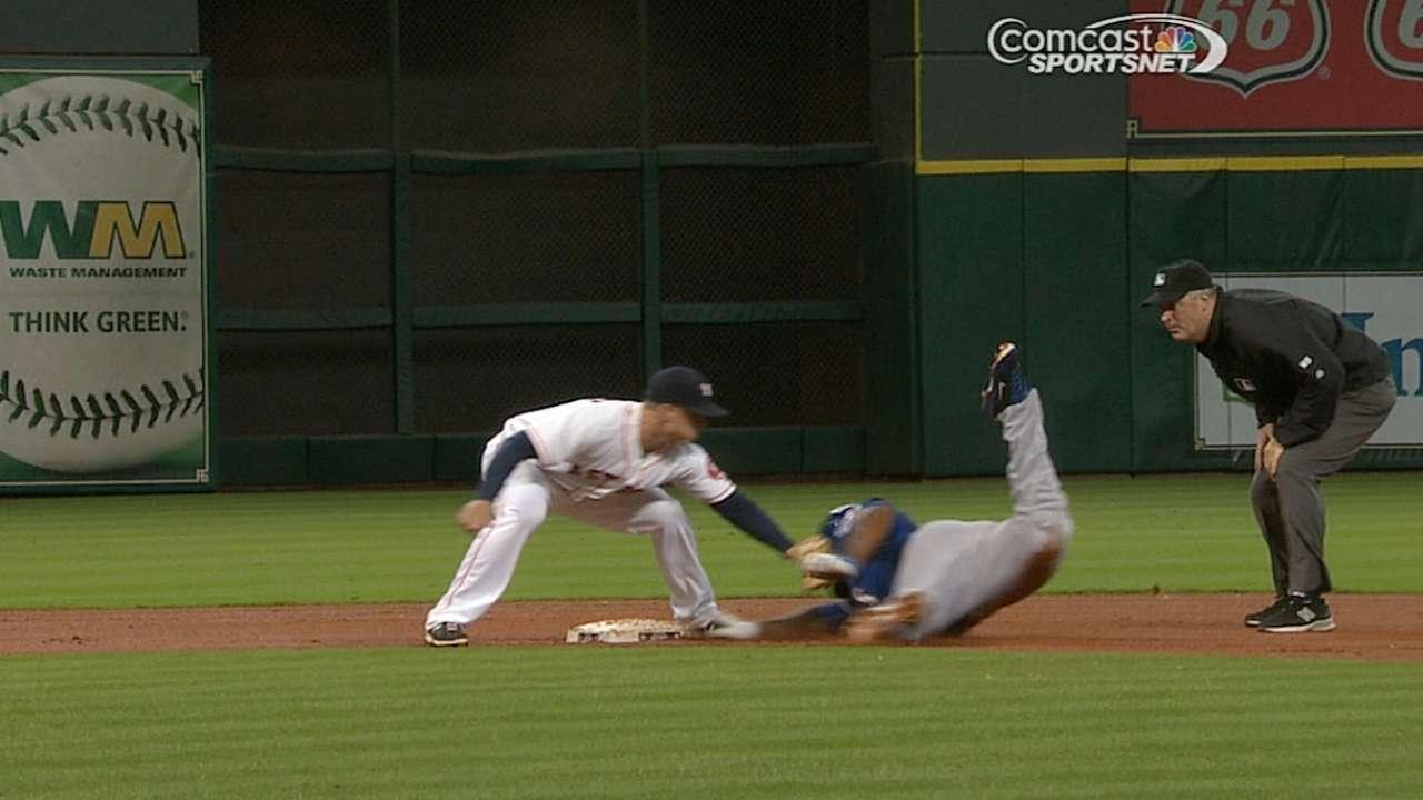 Astros' challenge erases Prince's double