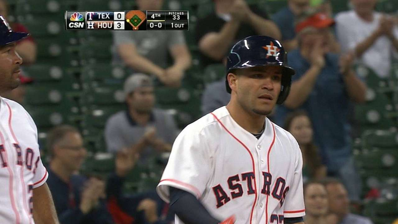 Altuve rounding into more disciplined hitter