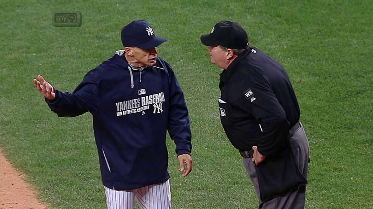 Girardi ejected for disputing called third strike