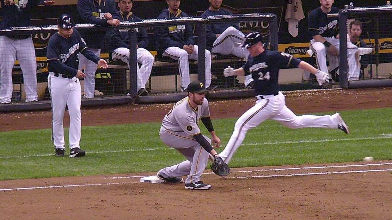 Brewers lose replay challenge in seventh inning