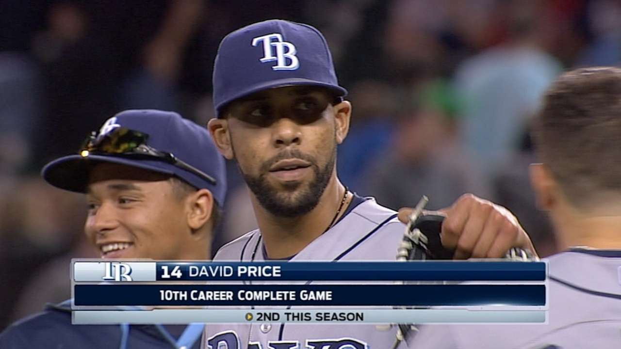 Price whiffs 12, goes distance as Rays rally in ninth