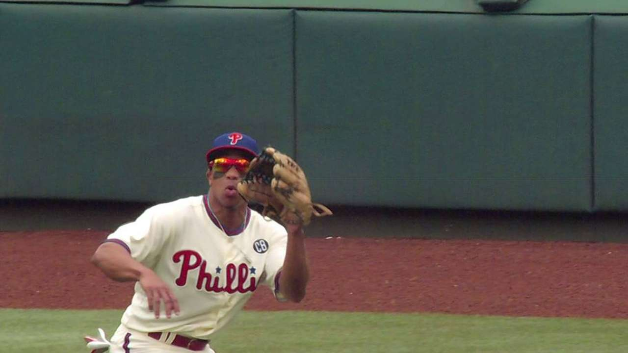 Revere in Phils' three-way center-field rotation