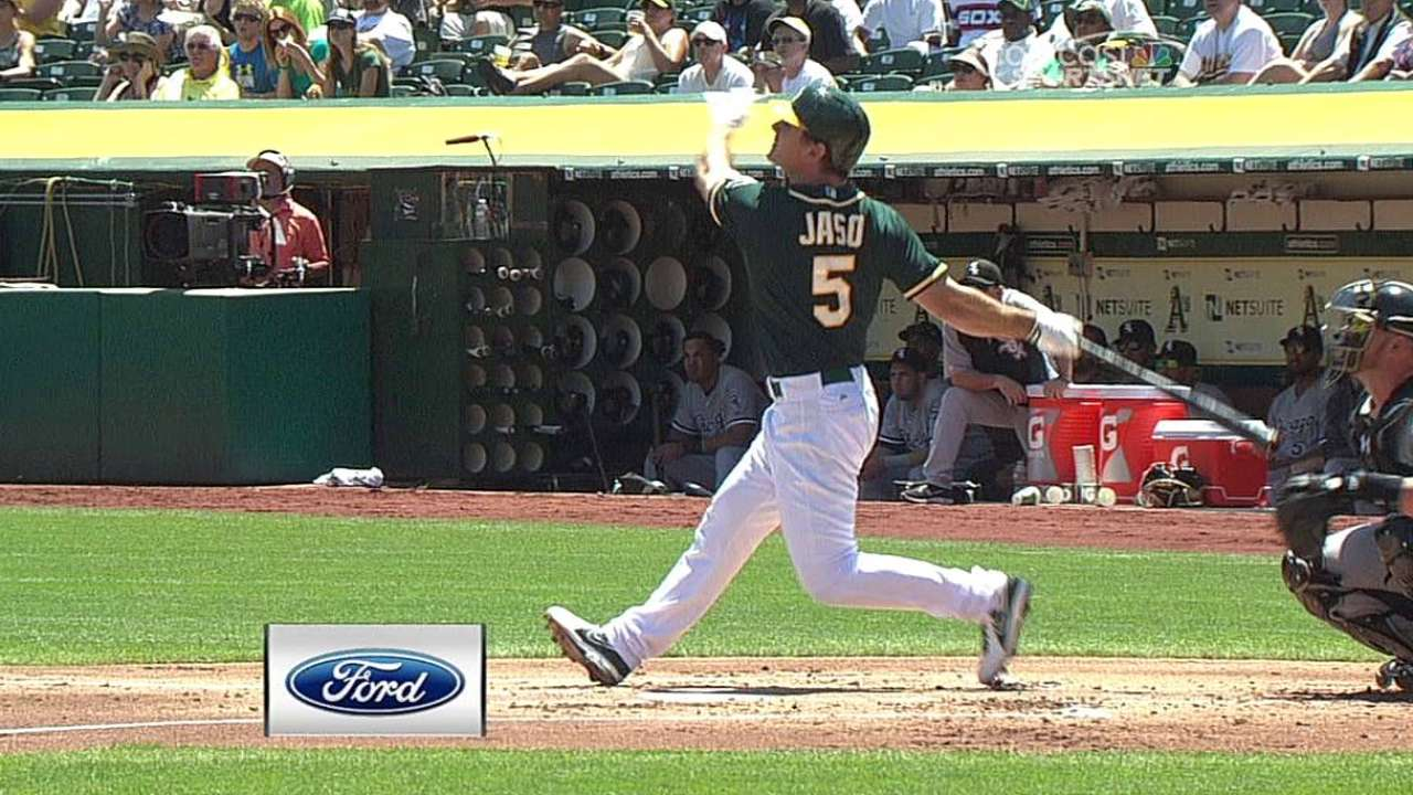 A's plan to rest Jaso for entire series in Toronto