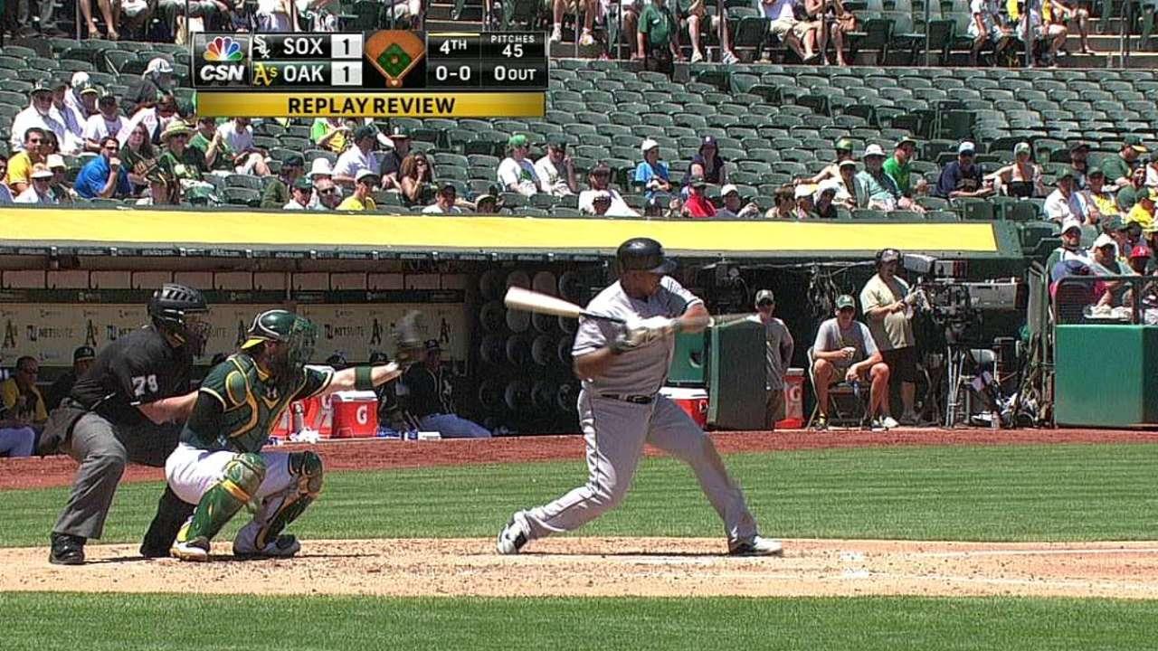 White Sox win challenge of hit batter