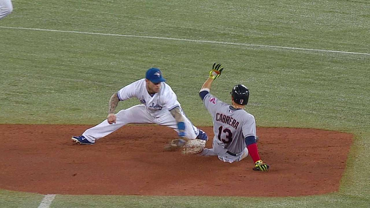 Call stands in fifth after Blue Jays challenge