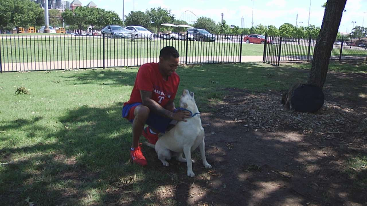 Rangers players go to the dogs