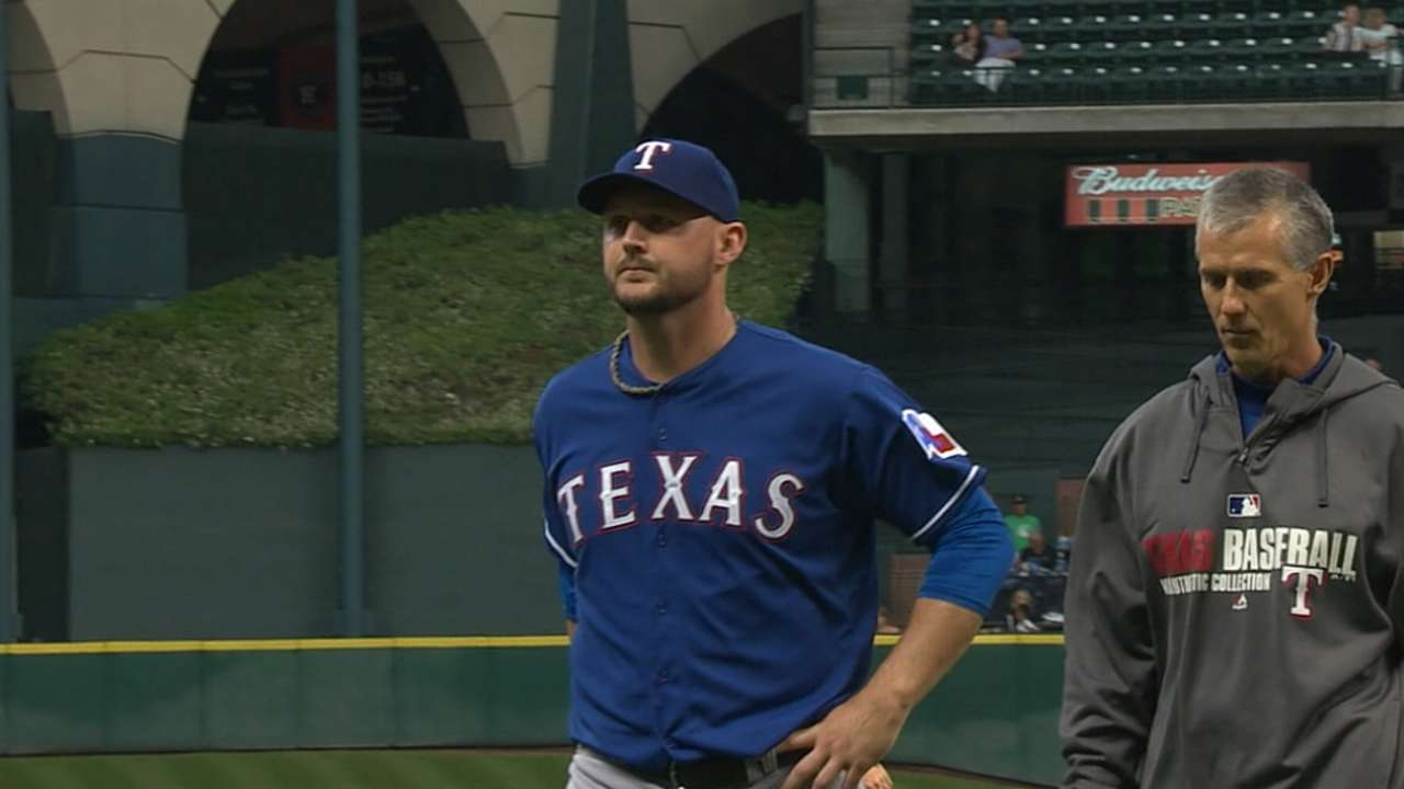 Injuries force Rangers to address pitching