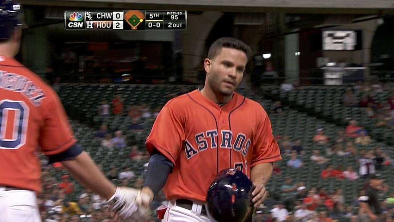 Castro remolca carrera pero Astros caen con Chicago