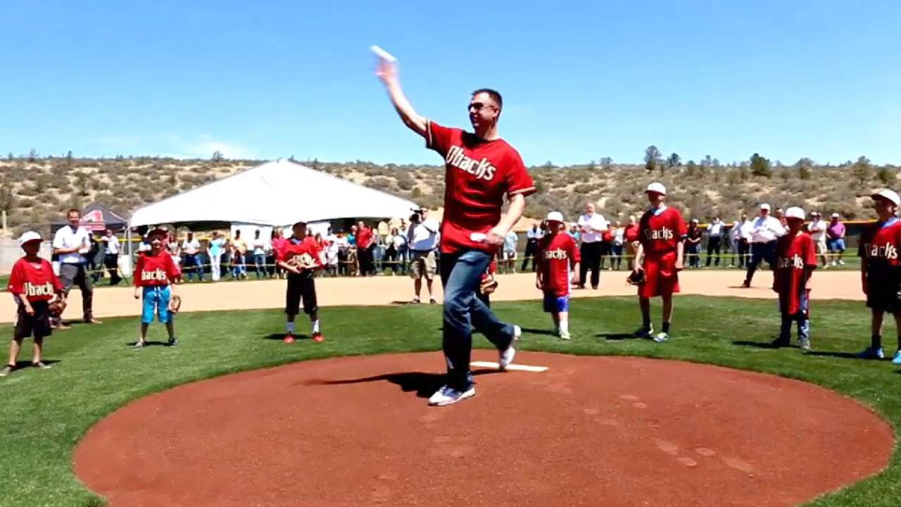 D-backs unveil Brad Ziegler Field in Prescott