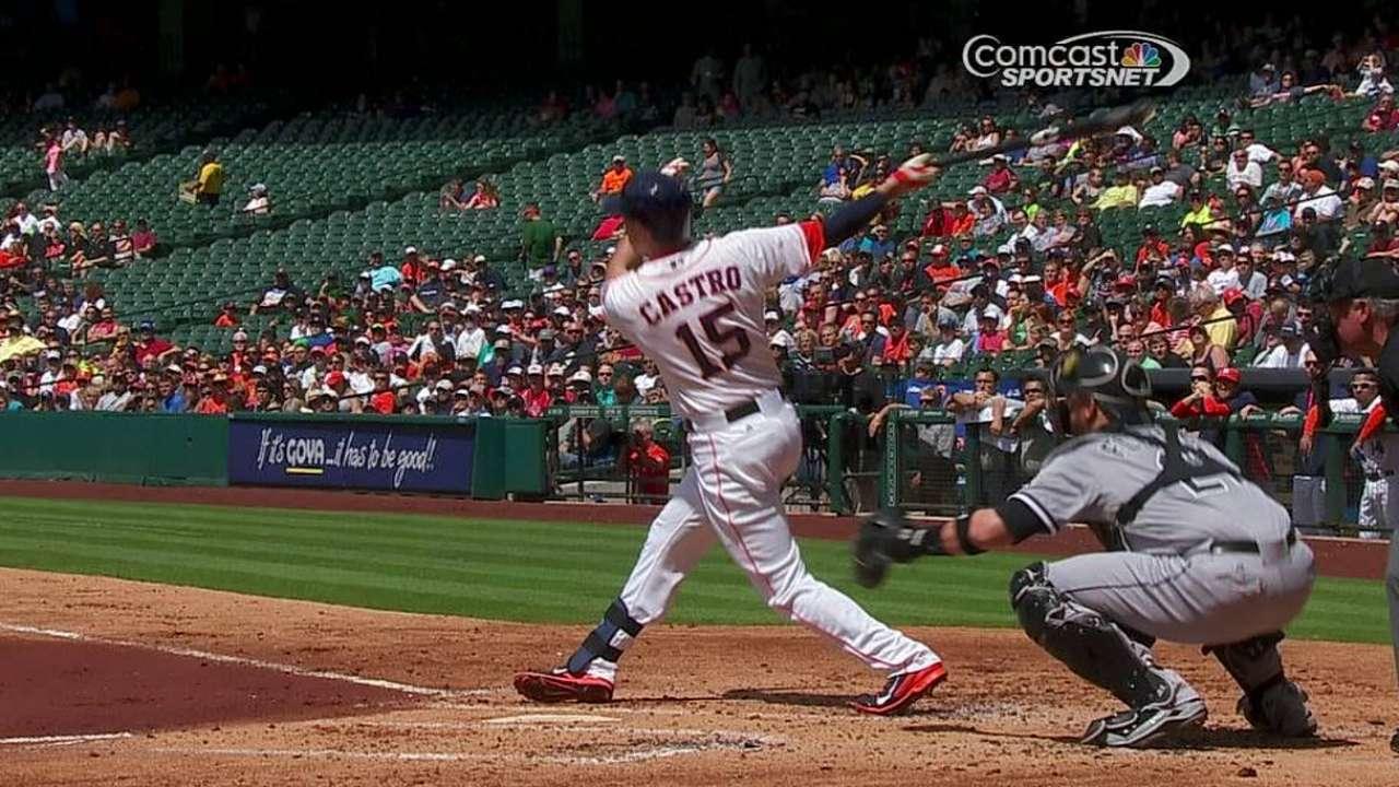 Astros ganan con cuadrangulares de Castro y Fowler