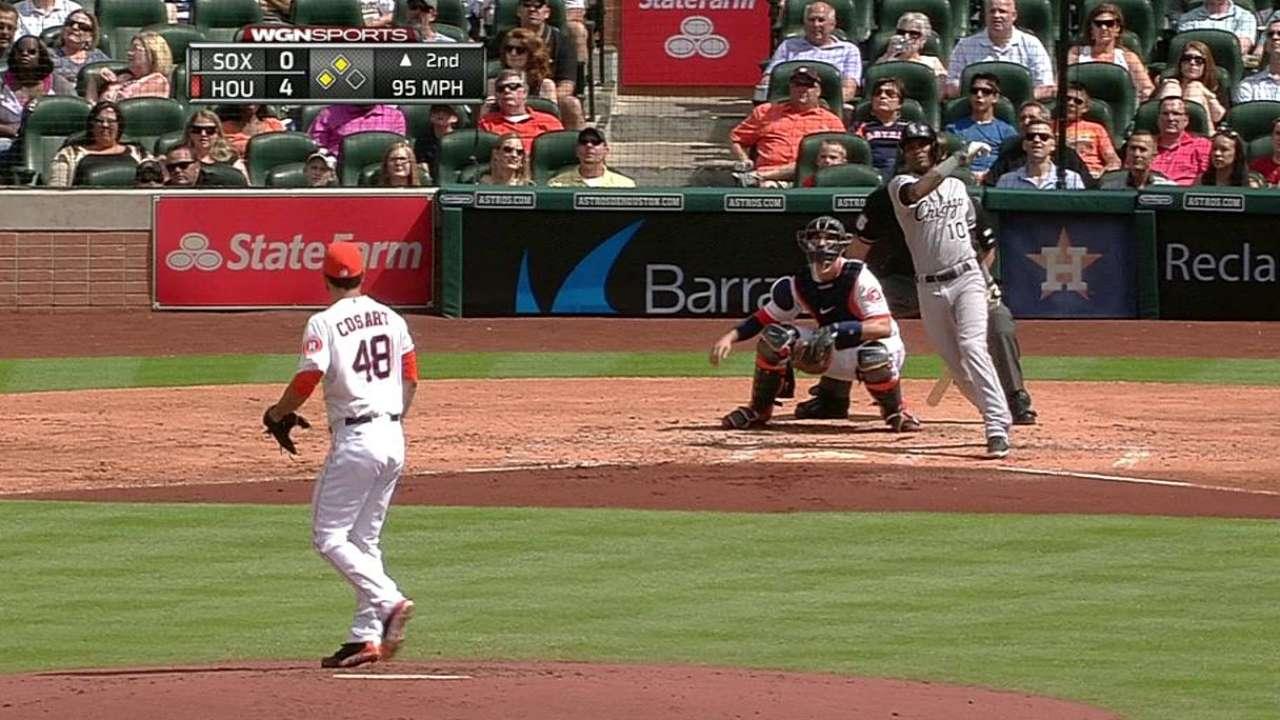 Medias Blancas cayeron por la mínima ante los Astros