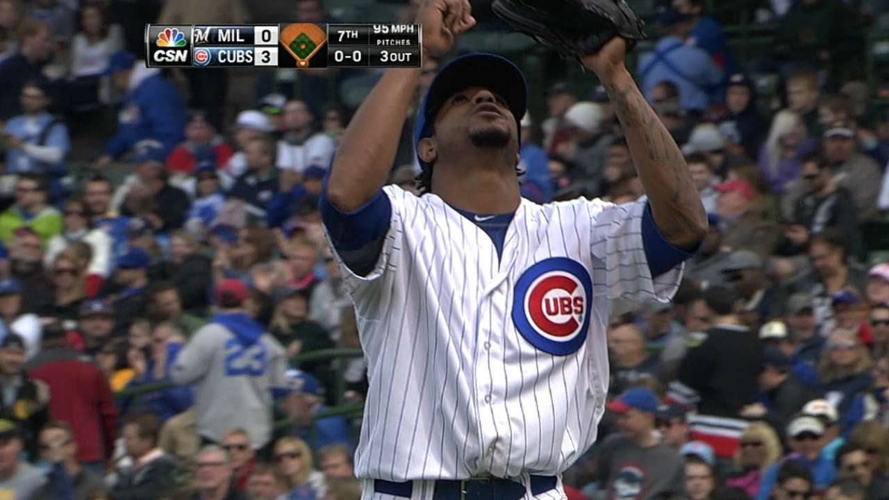 Jackson's 11 K's lead Cubs to shutout over Crew