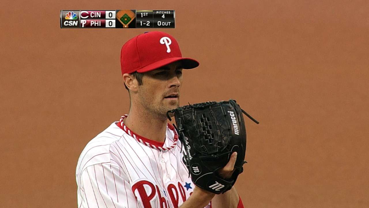 Hamels wins 100th game as offense comes alive