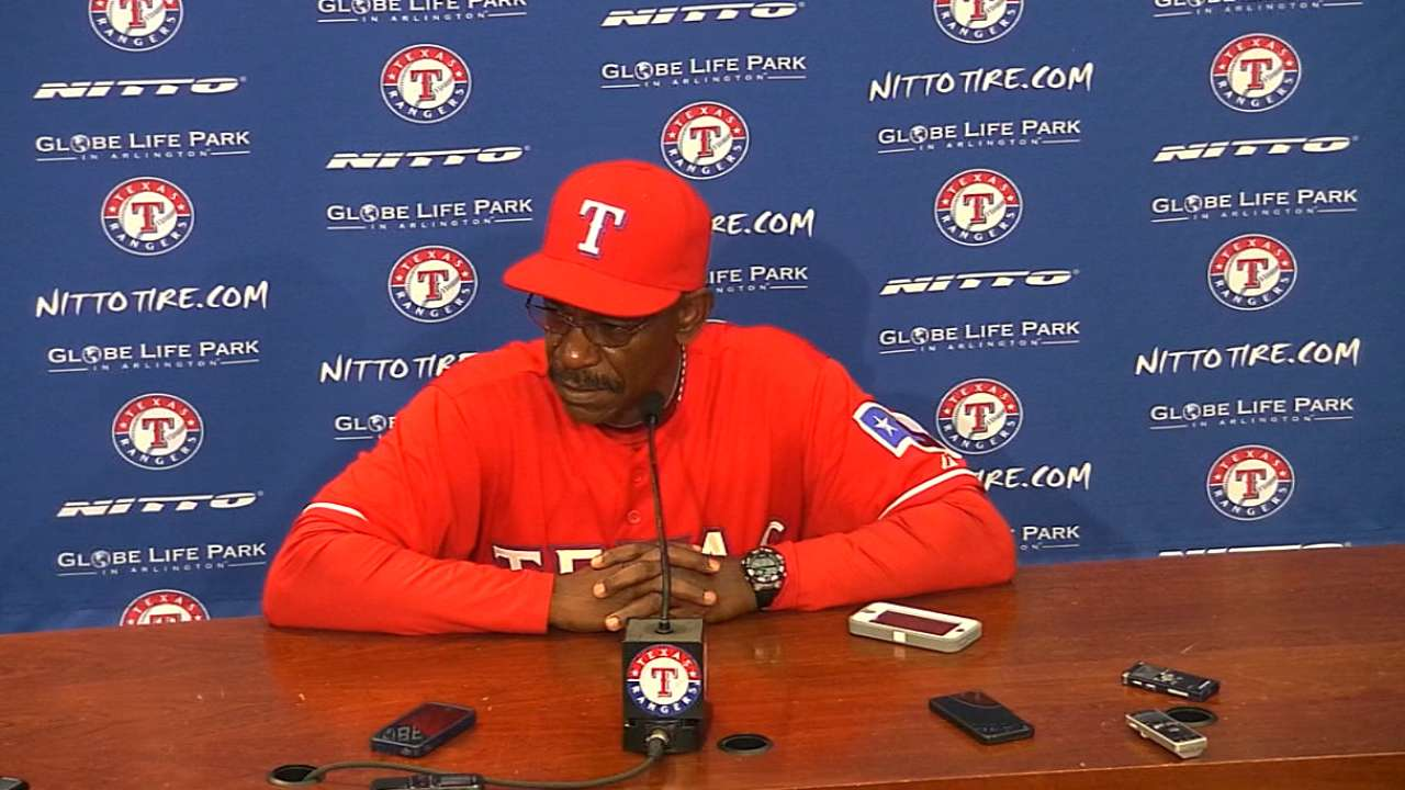 Rangers' hitters set to face flurry of right-handers