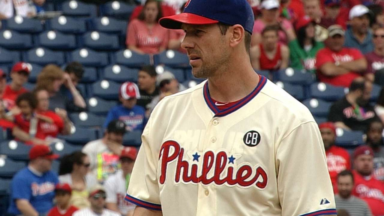Lee will pitch live BP for the Phils on Friday