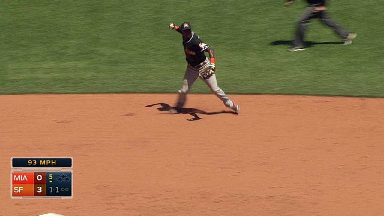 Marlins fall short after Turner's first-inning hiccup