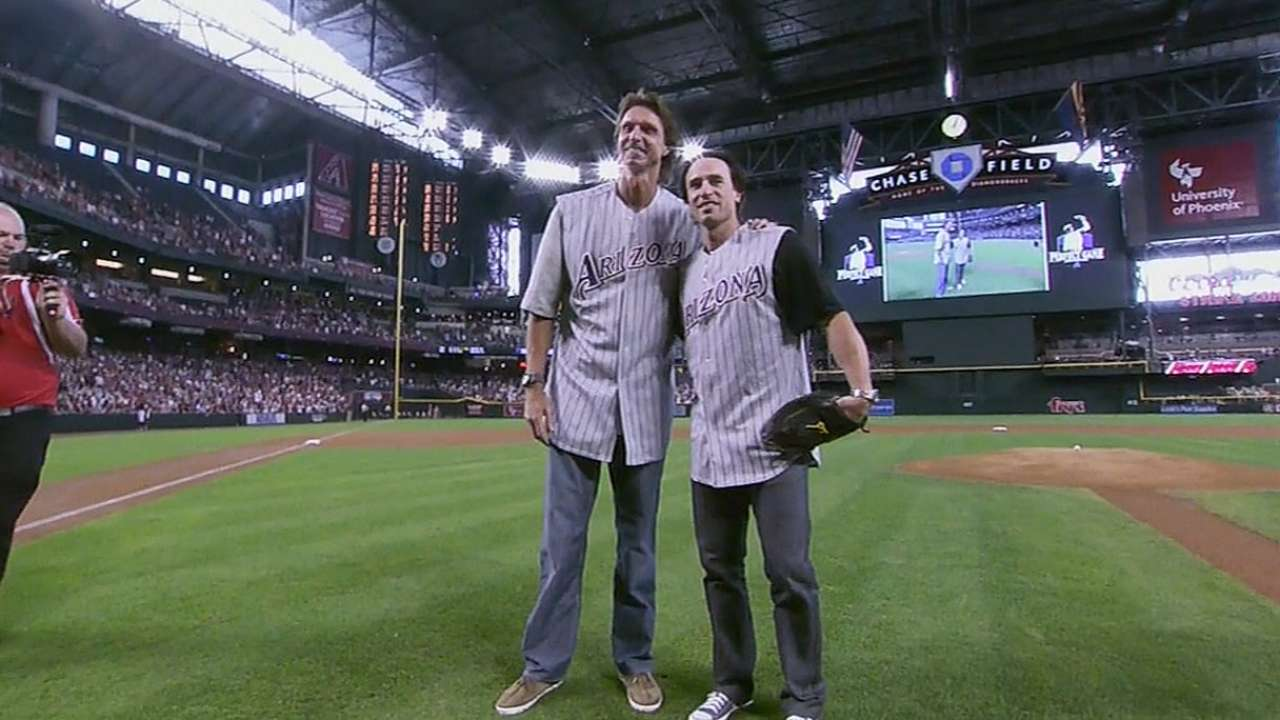 D-backs celebrate Big Unit's perfect game