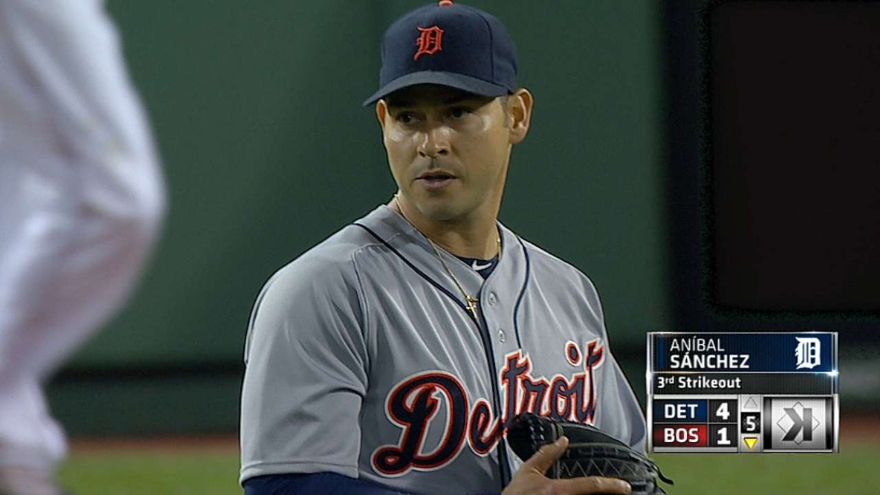 Anibal returns, tops Sox for Tigers' sixth straight win