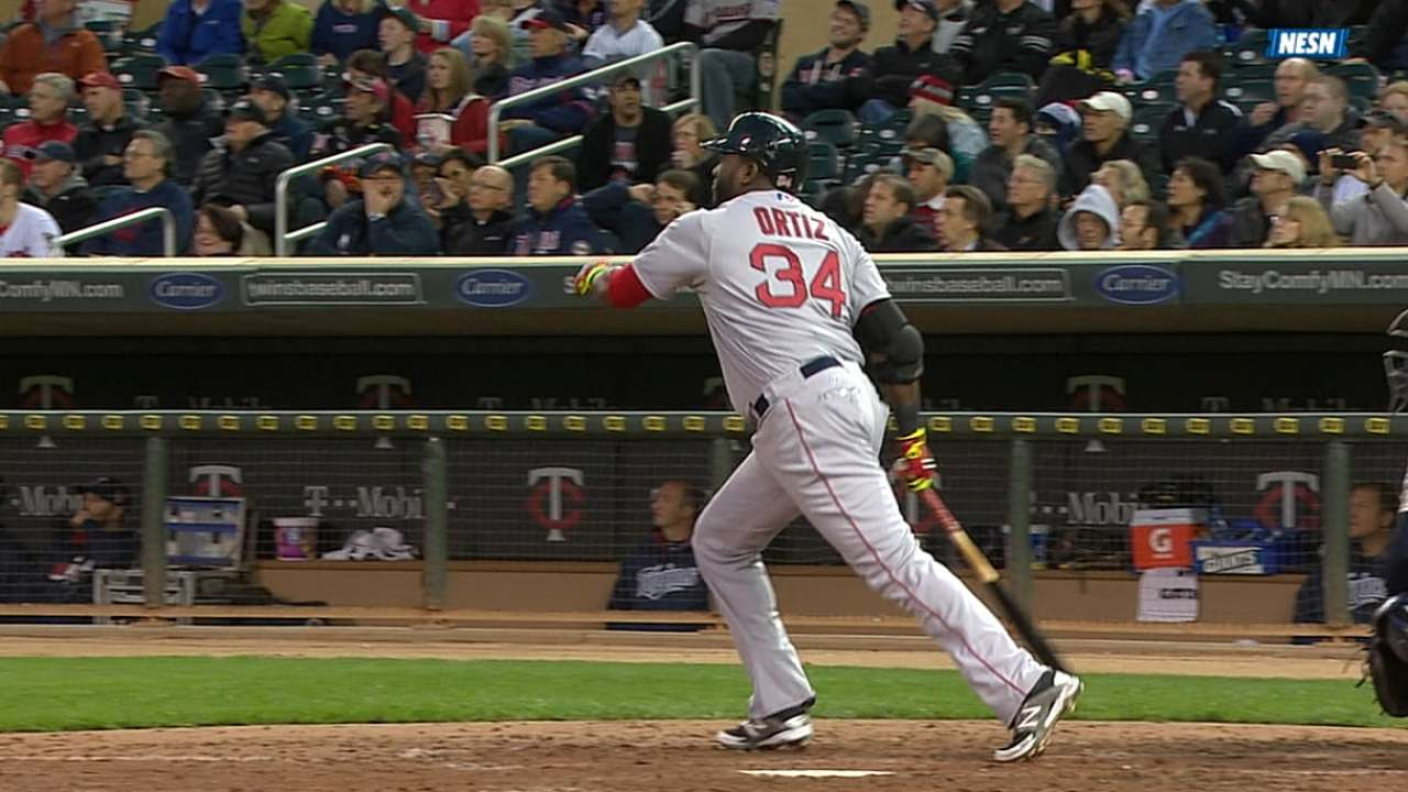 Papi makes season debut at first