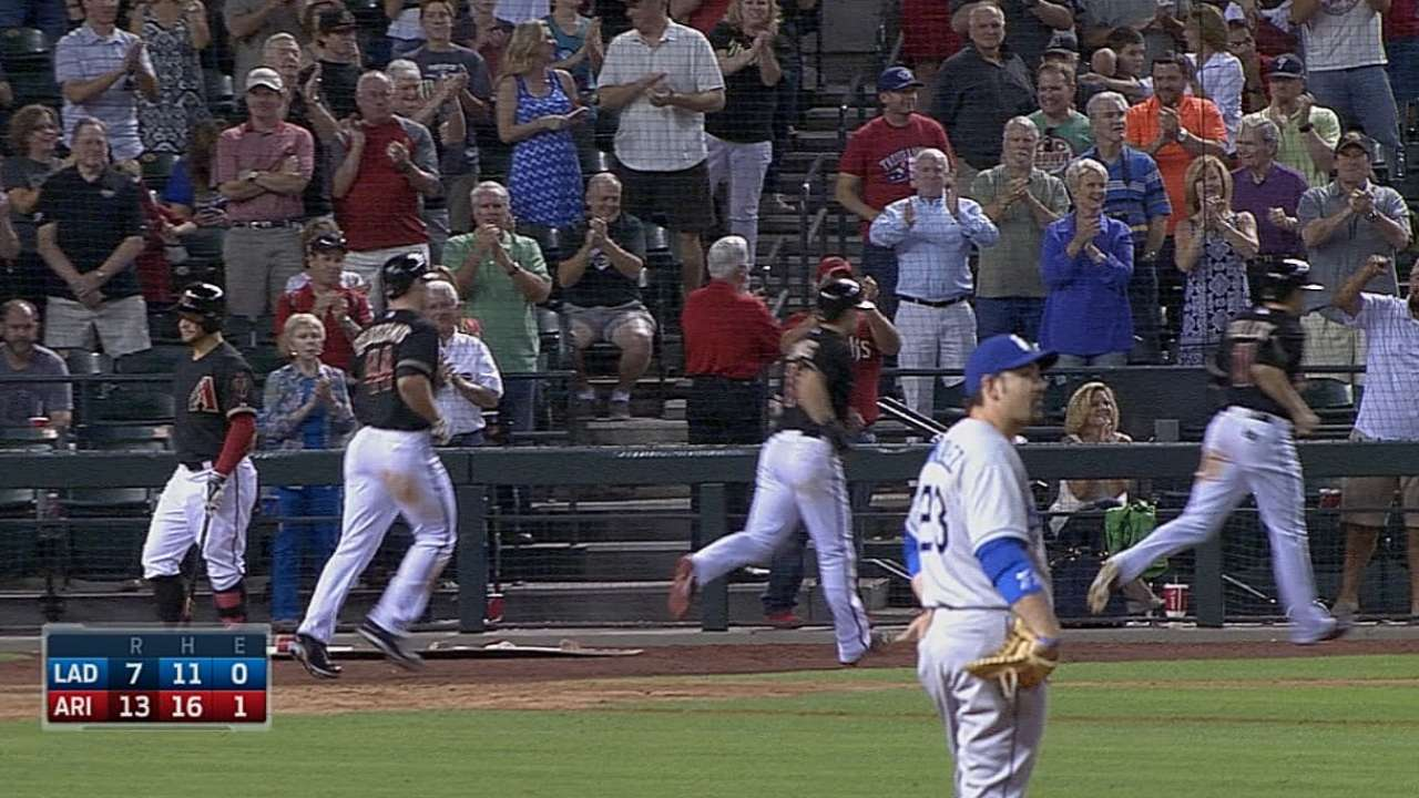 D-backs spin 21 hits in record-setting onslaught