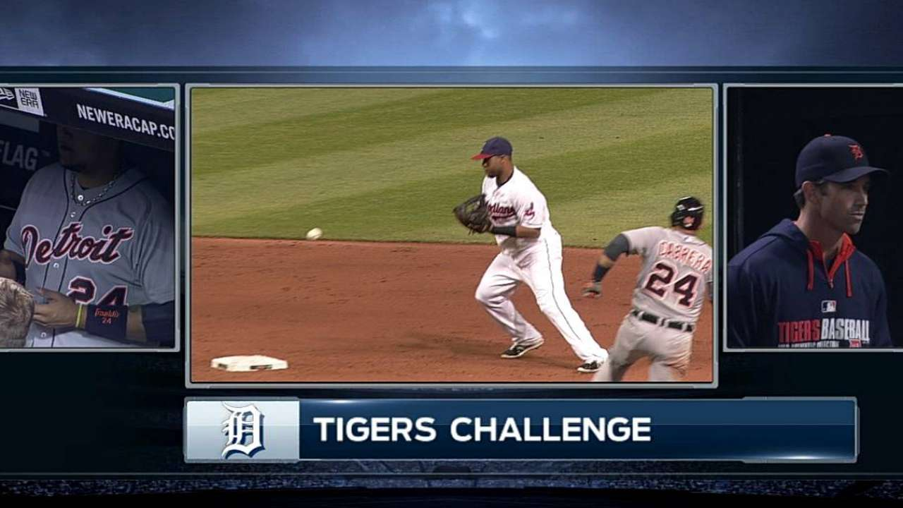 Transfer call upheld after Tigers challenge in eighth