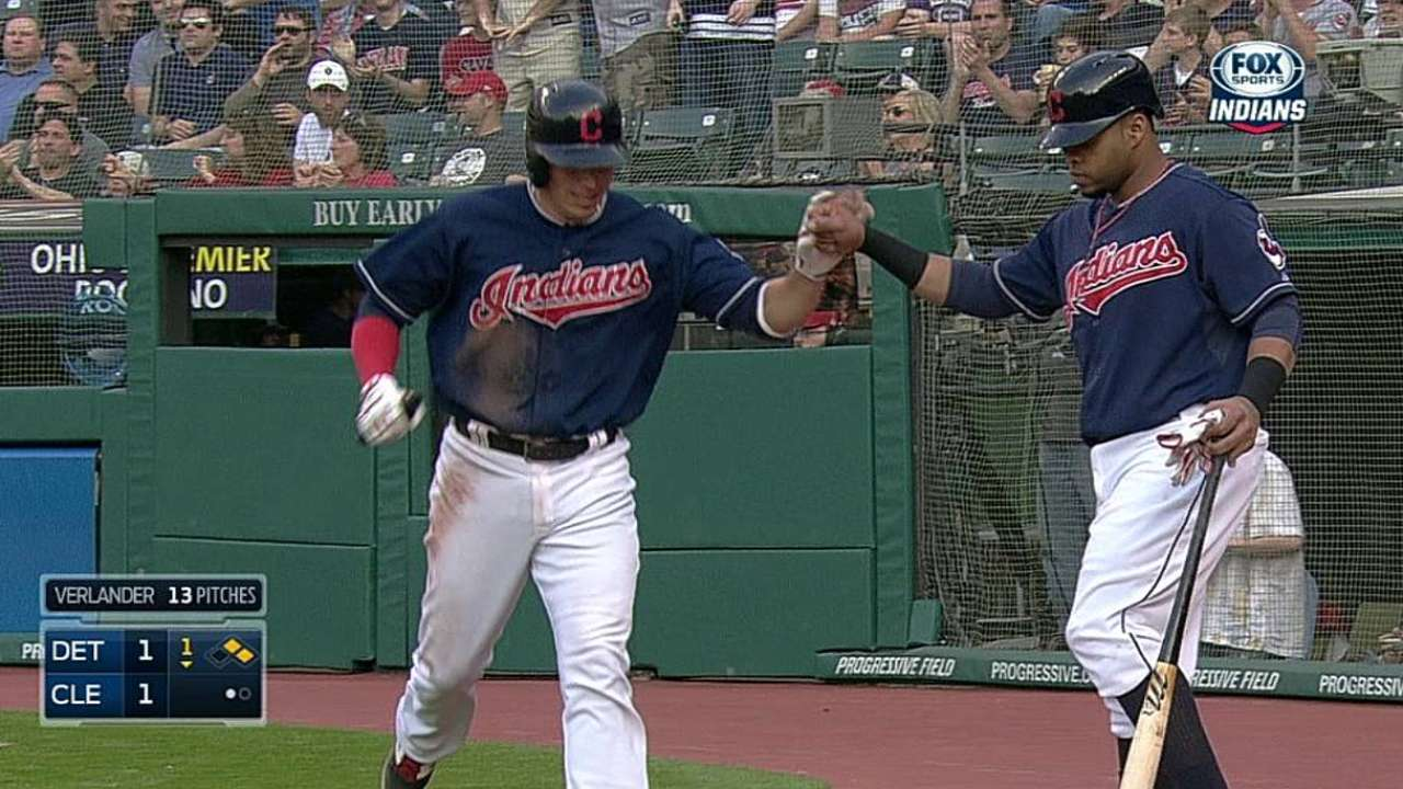 Indians rely on Chisenhall in supporting role