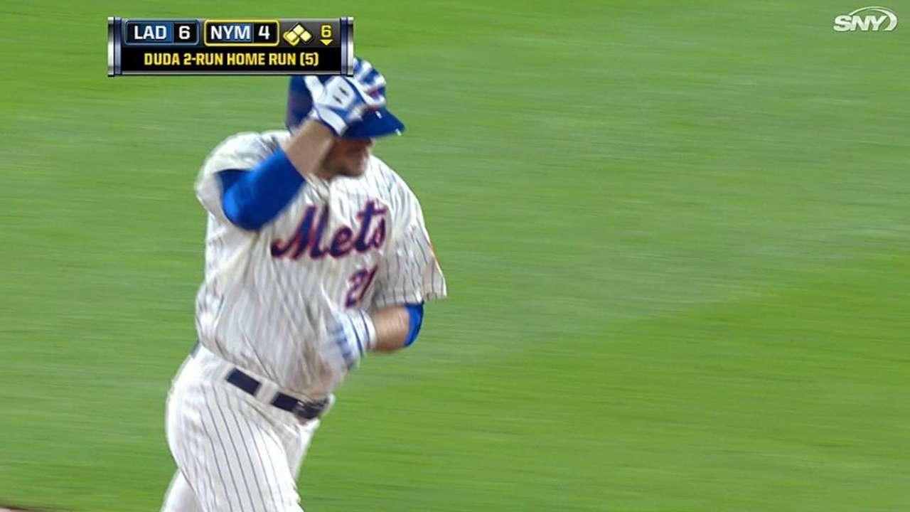 Duda jonronea pero Mets son superados por Dodgers