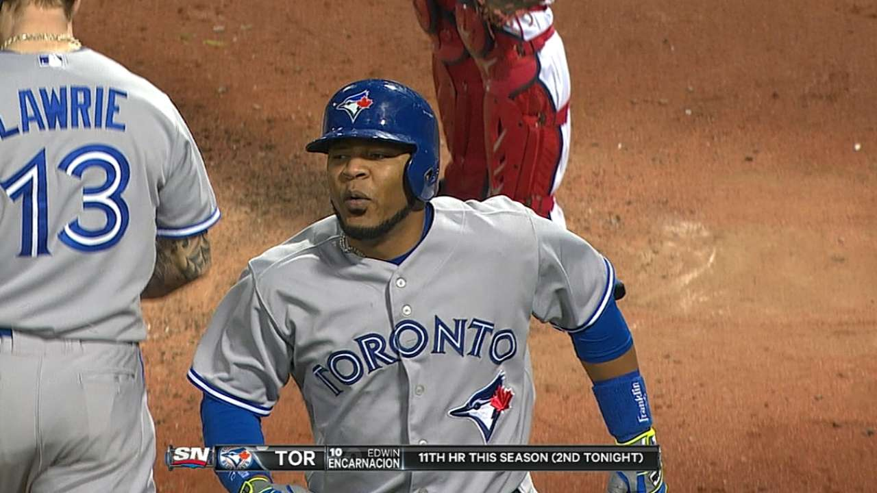 Encarnacion's two-homer game powers Blue Jays
