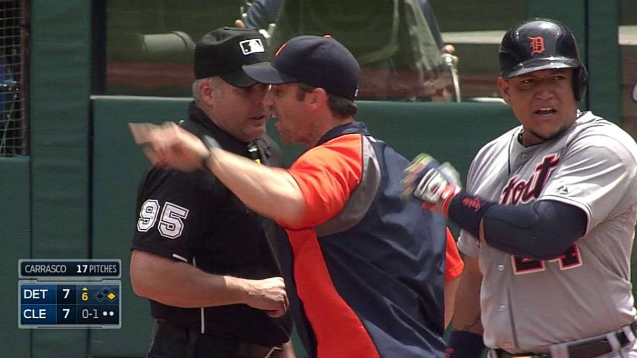 Miggy, Ausmus tossed after check-swing call
