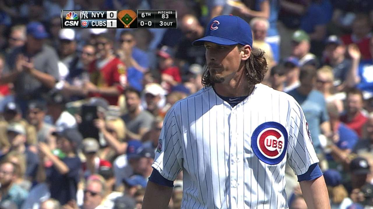 Cubs can't close out Yanks for Samardzija, fall in 13