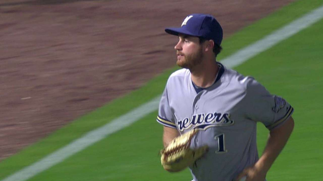 Brewers recall Schafer as Davis sits again