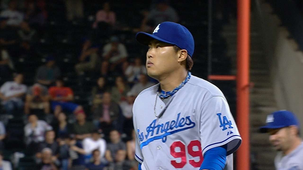 Trio of taters back Ryu's strong return from DL